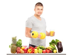 man with healthy juice