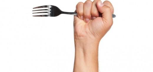 holding fork