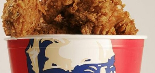 A bucket of Kentucky Fried Chicken