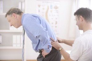 men with back pain