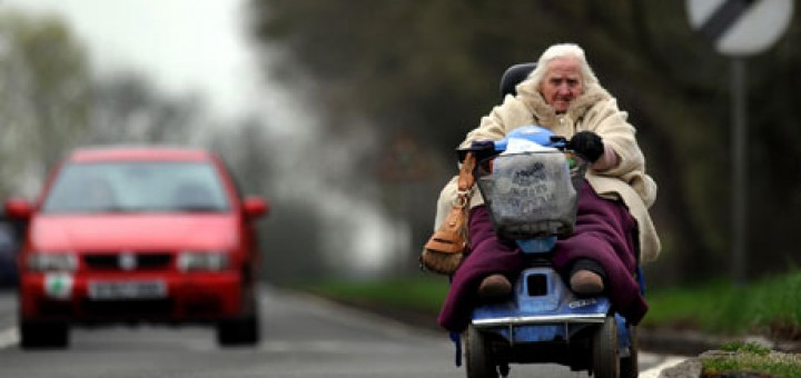 old lady with Scooters