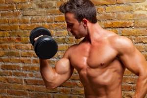 muscle shaped body man