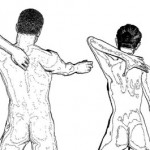 2 men's body illustration